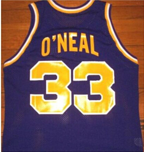 fec6e328a8f 33 Shaquille ONeal LSU Tigers college throwback basketball jersey  yellow