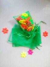 200 unids Hierba verde del regalo del organza bolsas 13×18 cm bolsos de fiesta para las mujeres evento casarse Con Cordón bolsa de La Joyería pantalla Bolsa de accesorios de bricolaje