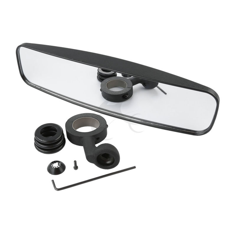 Wide Rear View Mirror W/ 1.75 Clamp For Polaris UTV Case IH Cub Cadet Husqvarna Motorcycle цена