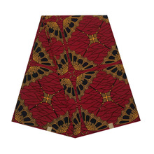 cotton African wax 100% cotton veritable dutch Printed in fabric block wax ankara 6yards hot sale for african woman V-L 555 цена