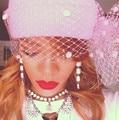 KPOP RIHANNA Mulher Fio Véu Líquido Chapéu Hairball Quente Chapéus de Inverno Feminino Senhoras Elegantes Meninas Chapelaria Tampas Mulheres Gorros Skully