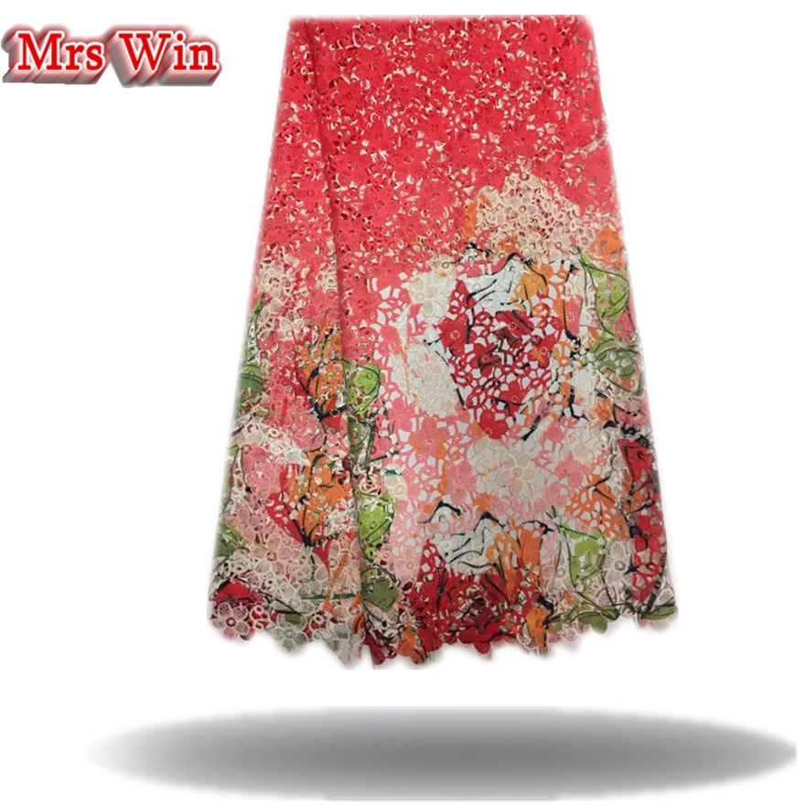 High Quality African Lace Fabric 2017 Latest cotton Lace Fabric pringting lace Hot Selling Nigerian Lace Fabric For Dress