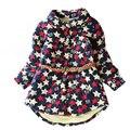 2-7 anos crianças jaquetas para meninas inverno quente da criança outwear com cinto estrela impressão crianças jaqueta outwear menina roupas outfit