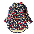 2-7 years kids jackets for girls winter warm toddler outwear with belt star print children jacket outwear girl clothes outfit