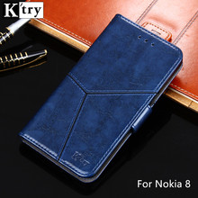 K'try Luxury Wallet Case For Nokia 8 PU Leather With Silicone Magnetic Fashion Case with Kickstand Flip Cover