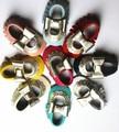2017 весной и летом новый дизайн кожа коровы детские мокасины с лук обувь для Девочек детские Малыш Мягкой Подошвой Мэри Джейн Детская Обувь