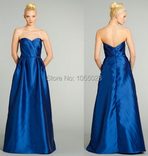 e9a63c1849ac Wholesale Sweetheart A-Line Floor Length Long Wedding Guest Dress Online  Royal Blue Bridesmaid Dresses Shop
