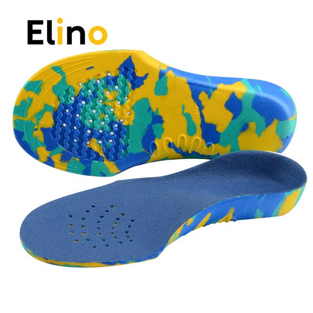 Elino Kid EVA wkładki ortopedyczne dla dzieci płaskostopie sklepienie łukowe wkładka do butów ulga w bólu Orthotic Sport Palmilha wkładka do butów tanie tanio CN (pochodzenie) 1 cm-3 cm Średnie (b m) Orthotic Gel High Arch Support Kid Insole Stałe Szok-chłonnym Wytrzymałe Anti-śliskie