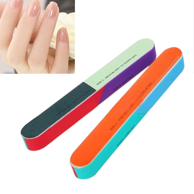 10pcs 7 Way Nail Buffer Tool Buffing Block Sanding File Manicure Tools Beauty Professional
