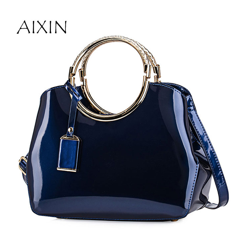 Patent Leather Handbag Women Bag 2017 New Fashion Design Tote Hand Bag High Quality Elegant Ladies Handbags Shoulder Bags