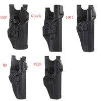 Tactical Level 3 Lock Right Hand Waist Belt Pistol Holster for M9/Glock/Colt 1911/M&P 9mm/ P226 series gun model