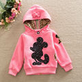 2016 Fashion Reversible Hoodie Sweaters Autumn Winter Thicken Coat Baby Girls Fleece Casual Pullovers Children Zipper Cardigans