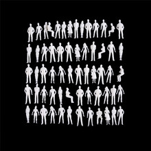 150 Scale Model Miniature White Figures Architectural Model Human Scale Ho Model Abs Plastic Peoples Sale