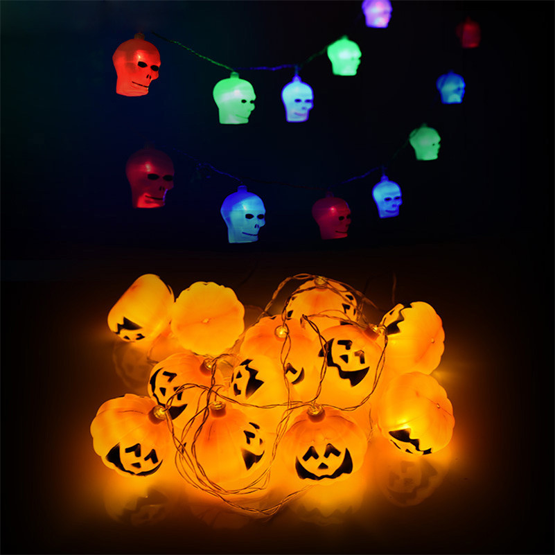 Event & Party Halloween Accessories Led Pumpkins/skull Led String Lights Lanterns Lamp Haunted House Home Bar Club Halloween Party Decorations