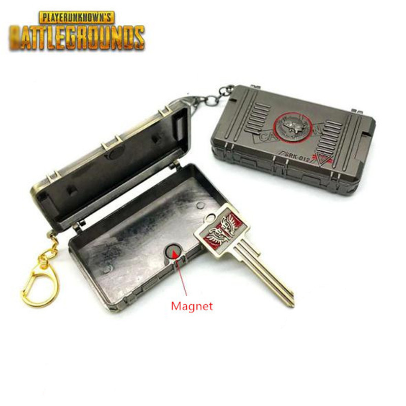 Game PUBG Playerunknown's Battlegrounds Cosplay Key Chain Victory Treasure Box Model Christmas Party Halloween Costume For Adult
