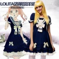 Halloween Party women costumes Lolita cosplay Lolita Costume The Rhine sails navy style vestidos dress Princess clothes