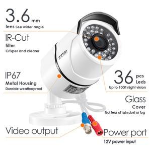 Image 2 - ZOSI 4pcs/lot 1080p HD TVI CCTV Security Cameras ,100ft Night Vision ,Outdoor Whetherproof Surveillance Camera Kit