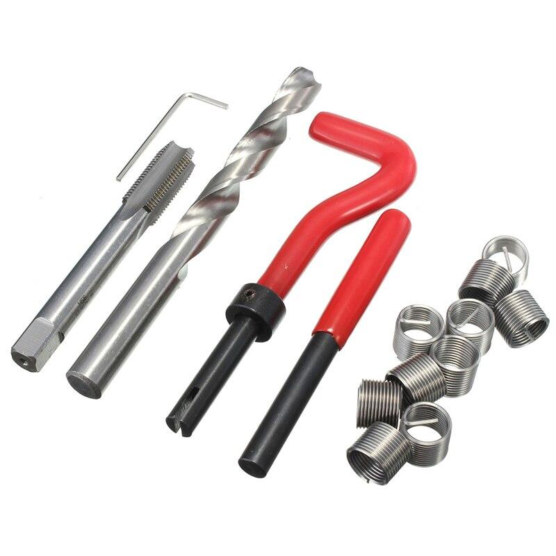 15 sztuk trwałe gwint metryczny zestaw naprawczy M12 dla Helicoil Pro cewki samochodu narzędzia dla warsztatów w Zestawy narzędzi ręcznych od Narzędzia na