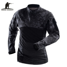 Mege Brand Military Tactical Clothing Camouflage Men Army Long Sleeve Soldiers Combat Airsoft Uniform Multicam Shirt(China)