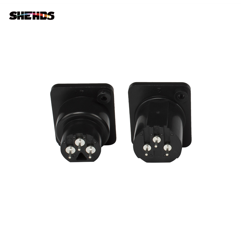 SHEHDS 2PCS/Lot Iron/Plastic DMX512 Plug 3 Pin XLR Signal Socket Panel Adapter Connector For DMX Cable Stage Lights DMX Control