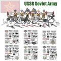 Mini WW2 Soviet Army Figures Russian National Army The Battle of Moscow Anti Fascist Building Blocks D164 Compatible with Lego