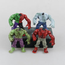 4pcs/set 12cm Avengers Superhero Hulk red hulk PVC Action Figures Collectible Model Toys(China)
