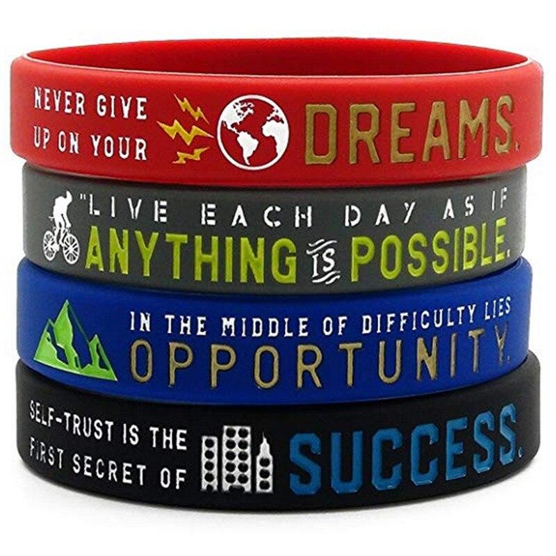 1 St Inspirational Armbanden Met Motivatie Gezegden-alles Is Mogelijk, Succes, Dromen, Kans Siliconen Polsbandje