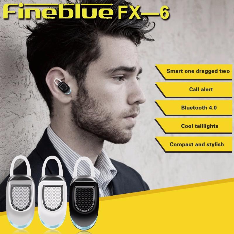 Original FineBlue FX-6 Bluetooth Earphone Ear hook Mini Wireless Earbuds Handsfree Running Sports Pocket Portable Headset  (2)