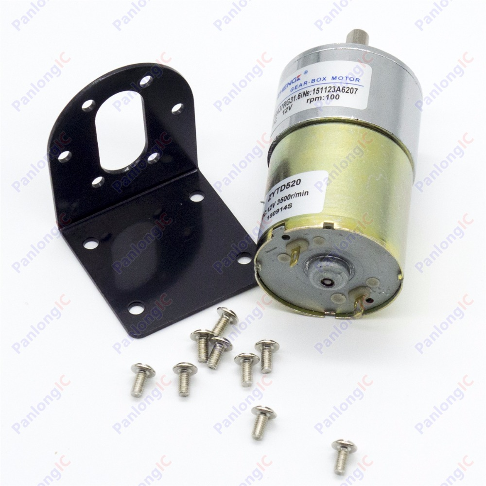 Image 4 - ZGA37RG 12V DC 100 RPM Gear Box Motor 1/34.5 High Torque 3500RPM Reversible Motor + Motor Holder + 6mm to 8mm Flexible Coupling-in DC Motor from Home Improvement