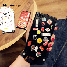 Mr.orange High quality Luggage Phone case For iPhone X 6s 6splus 7 8plus Luxury Suitcase DIY lovers Metal Soft Shell Cover Cases