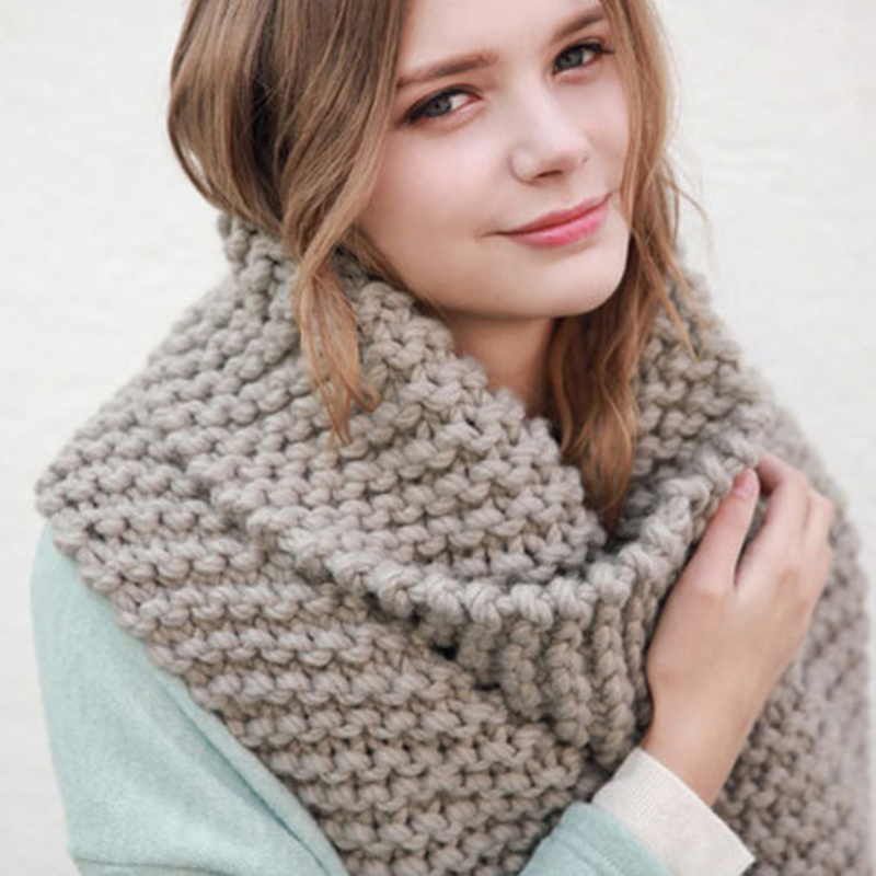 Luxury Brand New Women 's scarf winter wool knitted Candy colors scarves Soft Comfortable thick warm Handmade scarves WJ1056