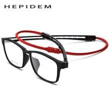 3eaa89ac1318e Homens Vidros Ópticos Quadro 2018 TR90 ajustável Esportes Ímã Quadrado  Pendurado No Pescoço Magnética Óculos de Grau de Miopia E..
