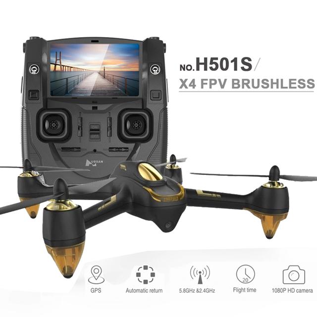 Nueva hubsan x4 h501s fpv quadcopter drone con 1080 p cámara gps sígueme y regreso a casa