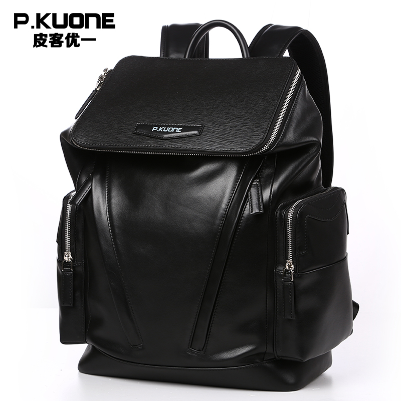 Fashion Designer Genuine Leather Backpacks For Men School Bags Famous Brand Shoulder Bag Men Travel Bag Natural Cowhide Backpack