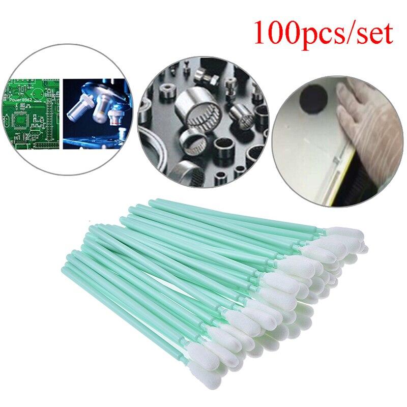100Pcs/set Sponge Sticks Swabs All Large Format Solvent Printer Printhead Cleaning Swaps Buds Foam Longe 9.5cm Wholesale