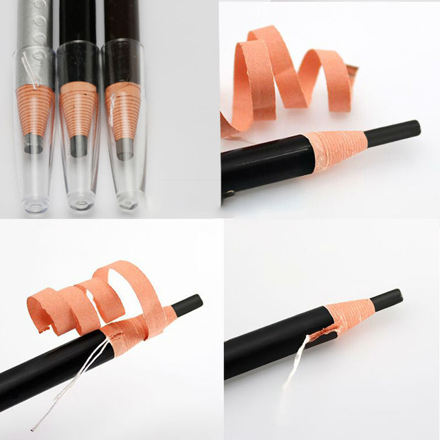 10pcs/set 5colors Available Eyebrow Pencil Shadows Cosmetics for Makeup Tint Waterproof Microblading Pen Eye Brow Natural Beauty 2