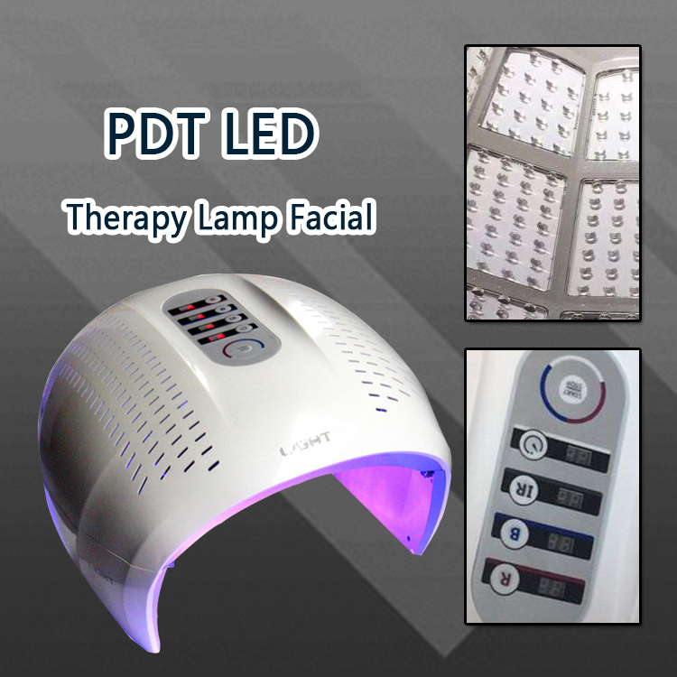 4 Colors Red Blue Infrared PDT LED Light Therapy Facial Mask Photodynamic Machine Photon Skin Rejuvenation Anti Aging