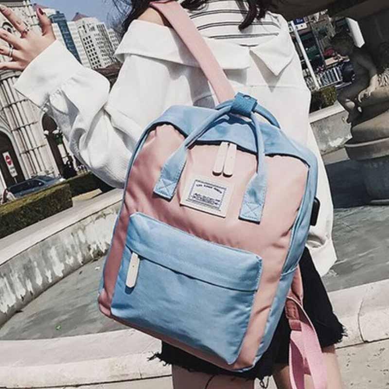 HTB1yVoHKXuWBuNjSszbq6AS7FXah Yogodlns Campus Women Backpack School Bag for Teenagers College Canvas Female Bagpack 15inch Laptop Back Packs Bolsas Mochila