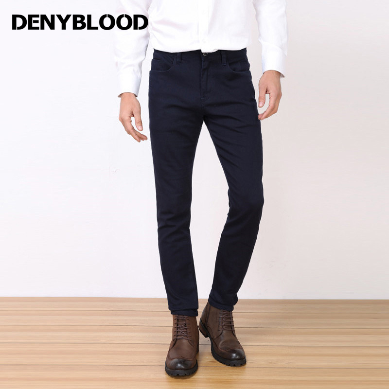 Denyblood Jeans 2017 New Arrival Męskie spodnie Chinos Stretch Slim - Odzież męska