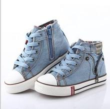 New 2016 Canvas Children Shoes Boys Sneakers Brand Kids Shoes for Girls Baby Jeans Denim Flat Boots