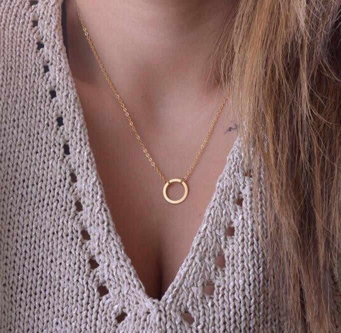 Niska cena nowy Boho złoty choker naszyjniki dla kobiet Sexy koło moda wisiorek w stylu Vintage Collier choker naszyjnik