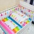 5 pçs/sets bumper set cama de bebê em torno de algodão impresso baby bedding bedding set comfortacrib conforto macio folha de berço do bebê da criança conjunto