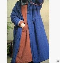 Зимой 2015 новый продукт, оригинальный дизайн женская рука швейные хлопок лен хлопок-проложенный одежды