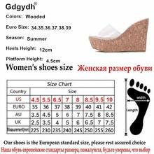 Gdgydh 2018 New Summer Transparent Platform Wedges Sandals Women Fashion High Heels Female Summer Shoes Size 34-40 Drop Shipping
