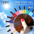 #51263 CANNI Nail Art Gel Factory 2016 New Product One Step Color Gel Nail Polish Sunlight 3 in 1 Gel Nail Polish oem