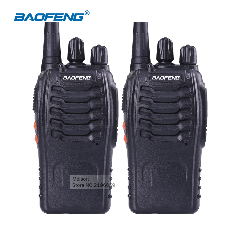 (2pcs) 100% Original 888S Walkie talkie UHF Two way radio baofeng 888s UHF 400-470MHz 16CH Portable Transceiver with Earpiece
