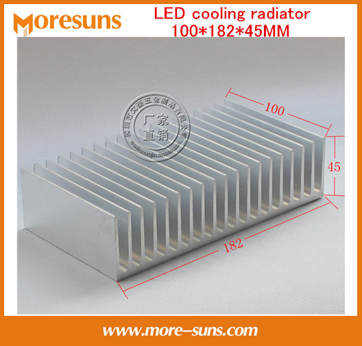 Fast Free Ship Module heatsink/LED cooling radiator 100*182*45MM Electric heat block big Size Heatsink
