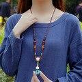 fashion ethnic evadenecklace vintgae jewelry sweater bodhi wood Buddha necklace,handmade nepal jewelry turquoise necklace