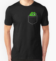 New Pocket Pepe The Frog Men's T-Shirt Size S-2XL