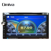 Cimiva 7 Inch TFT Car Vehicle Large Touch Screen Display Dual Din DVD Player Multimedia Player